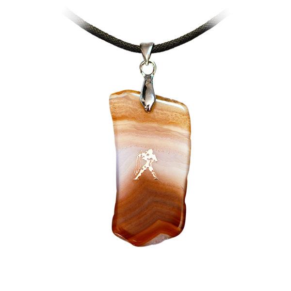 Pendentif Agate - signe astrologique Verseau - Shop Spirituel