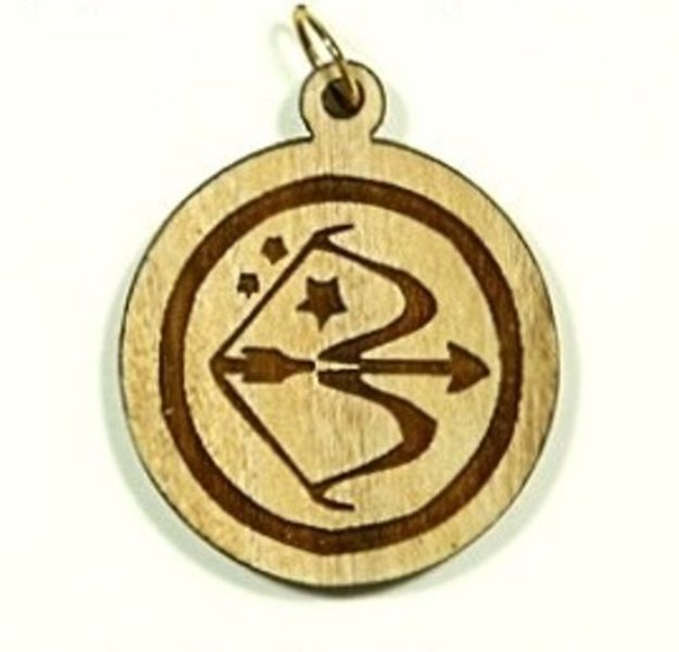 Pendentif bois d'olivier - Sagittaire - Shop Spirituel