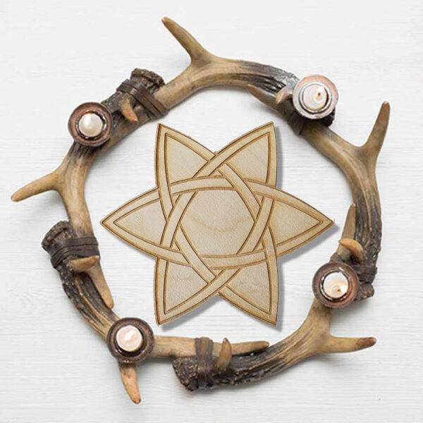 Grille de Cristaux Étoile Celtique Shop Spirituel