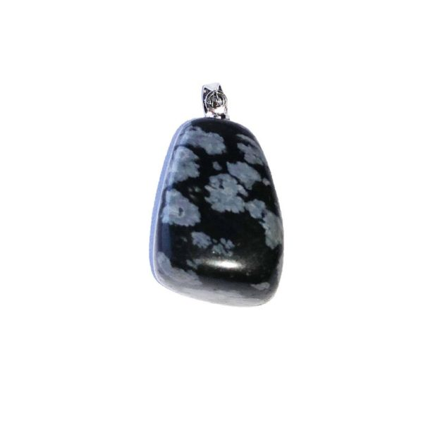 Pendentif pierre précieuse Obsidienne Neige Shop Spirituel