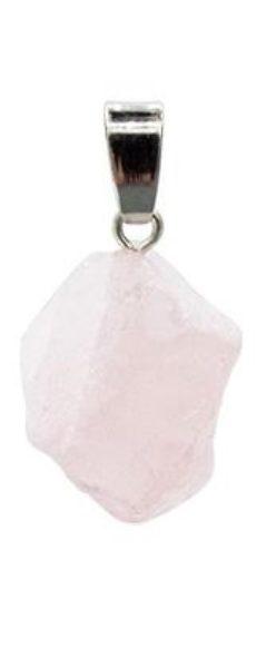 Pendentif pierre précieuse Quartz Rose brute Shop Spirituel