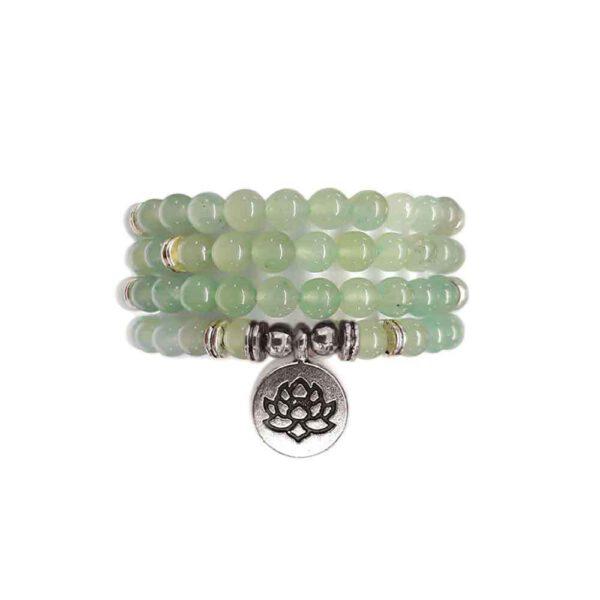 Bracelet Mala de pierres précieuses Perles d'Aventurine Verte Shop Spirituel