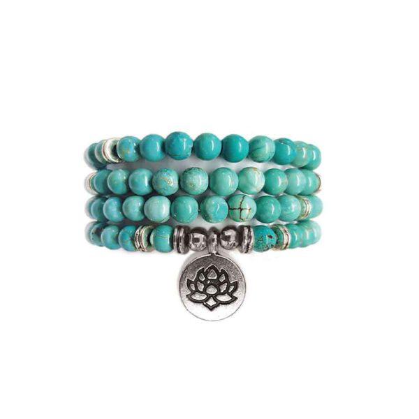 Bracelet Mala de pierres précieuses Perles de Turquénite Shop Spirituel