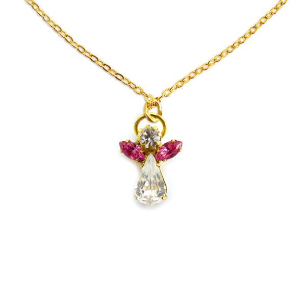 Collier d'ange en cristal octobre pierre precieuse Zircon Shop Spirituel