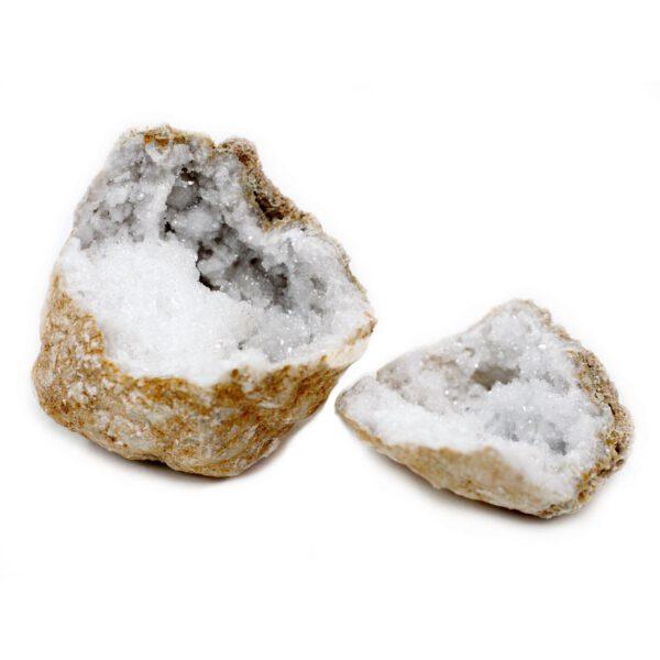 Geode Sélénite deux pièces Shop Spirituel
