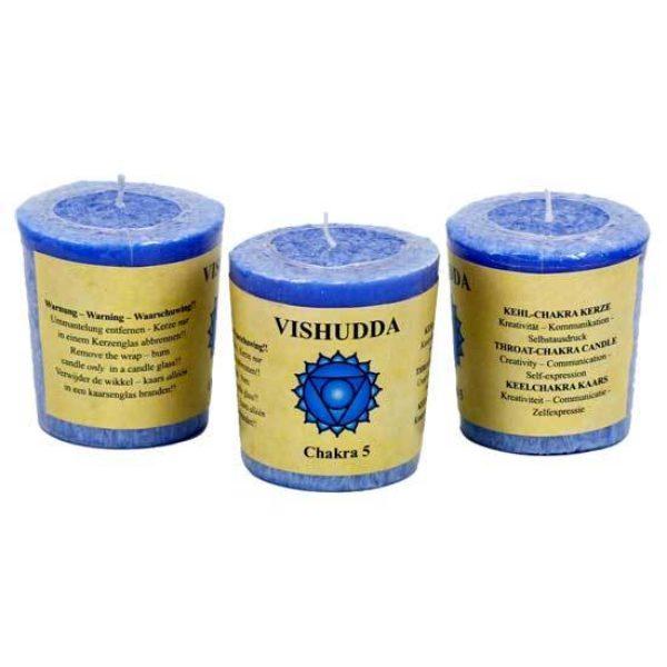 Bougie chandelier parfumée Vishudda 5e chakra - 3 pièces