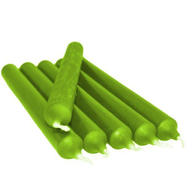 Bougie gothique verte 21 cm - 6 pièces Shop Spirituel Web