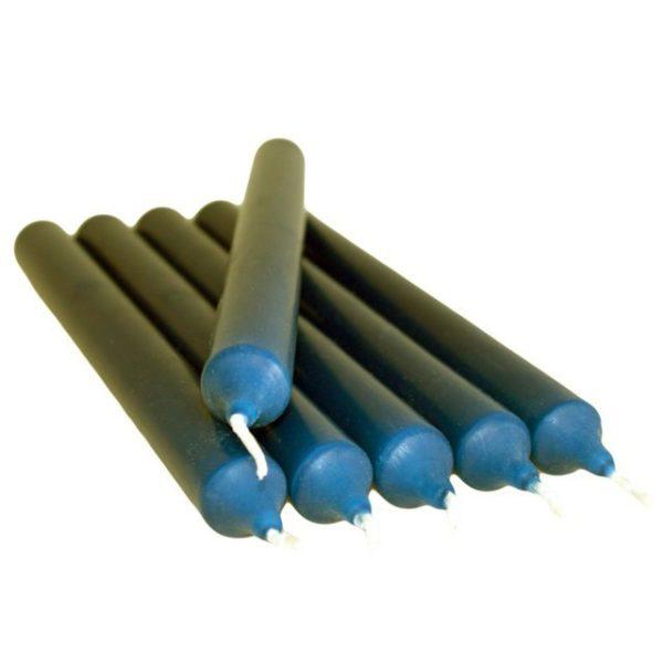 Bougie gothique bleue 21 cm - 6 pièces - Shop Spirituel Web