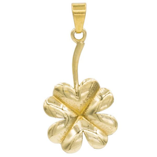Pendentif trèfle à quatre feuilles - couleur or
