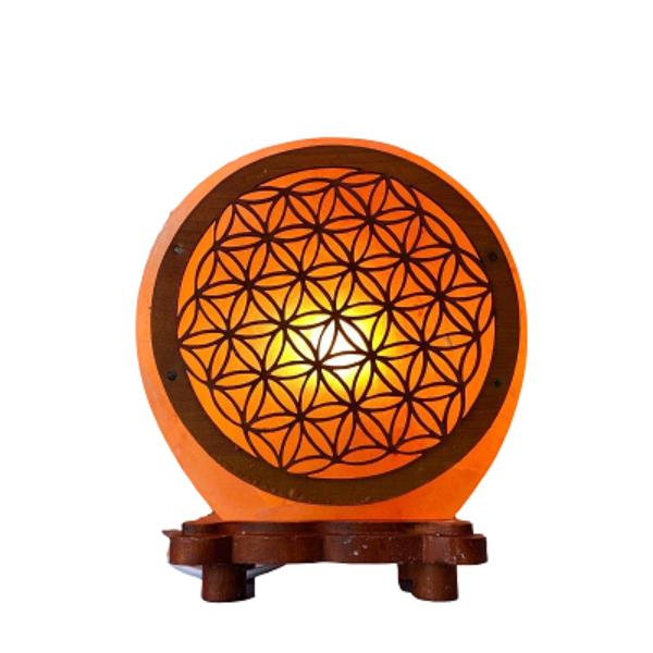 Lampe de Sel - Fleur de Vie - 5 kg (lampe et cordon compris) - Shop Spirituel