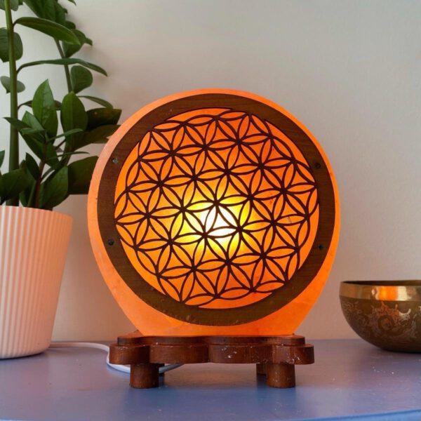 Himalaya Zoutlamp kristallamp symbool Bloem des Levens 5 kg Bloom Webshop - Shop Spirituel