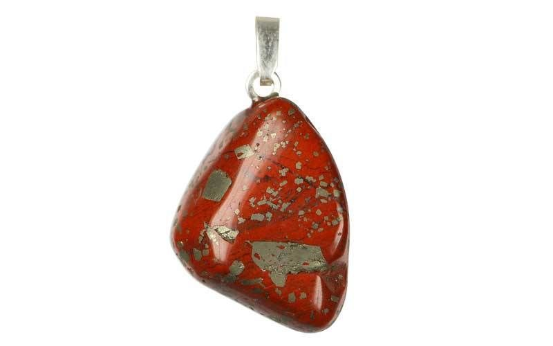 Pendentif pierre précieuse Jaspe rouge Shop Spirituel
