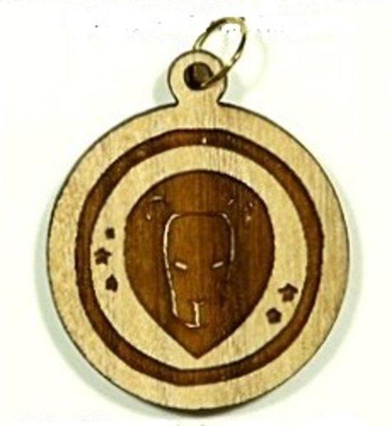 Pendentif bois d'olivier - Lion - Shop Spirituel