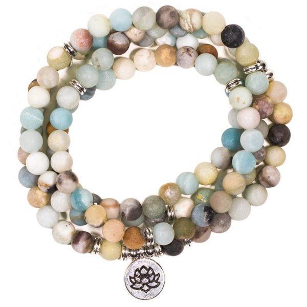 Bracelet Mala Amazonite - Lotus Shop Spirituel 108 perles