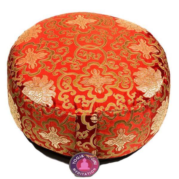 Coussin de méditation - Fleur de Lotus rouge/or Shop Spirituel Web