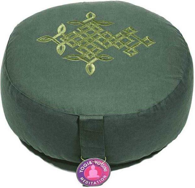 Coussin de méditation - Arbre de Vie celtique vert - Shop Spirituel
