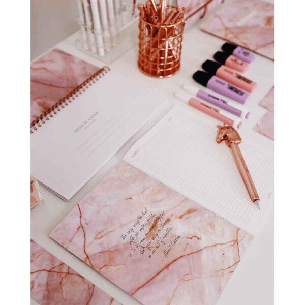 Cahier Quartz Rose A5 - Shop Spirituel