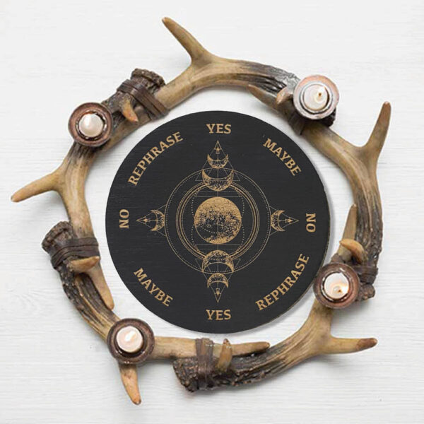 Planche radiesthésie noire - Triple Lune - Shop Spirituel