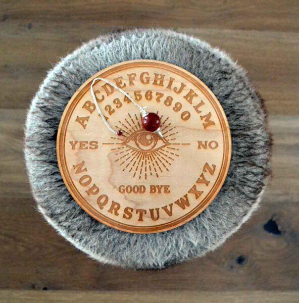 Planche radiesthésie planche Ouija avec pendule en jaspe rouge- Shop Spirituel