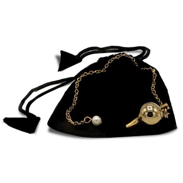 Pendule Lucy en laiton doré Pendule divinaotoire Shop Spirituel Pochette