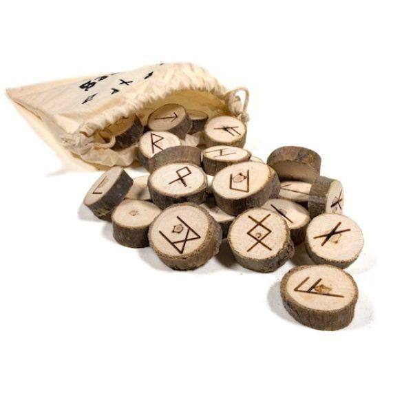 Jeux d'Oracle des Runes dans un sac en coton Shop spirituel