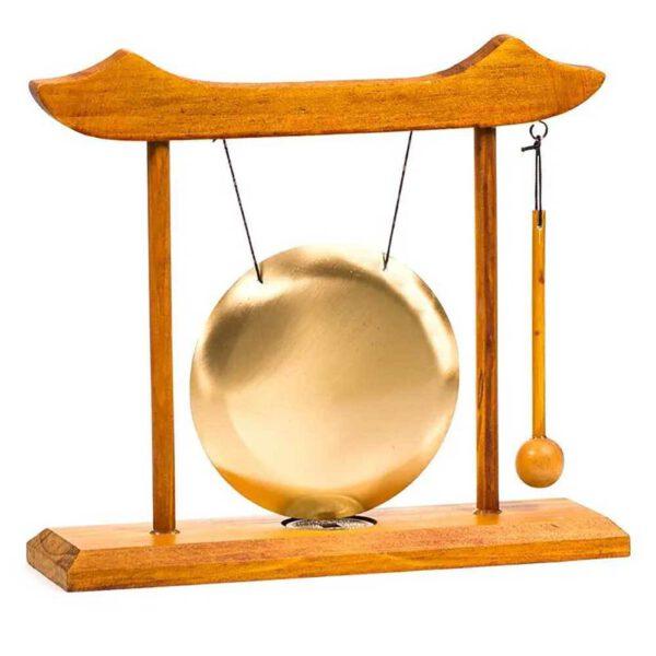 Gong de table - cadre en bois rouge - Shop Spirituel - 1