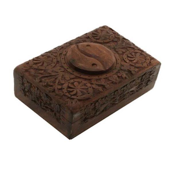 Boîte pour cartes Tarot et bijoux en bois - Yin Yang Shop Spirituel