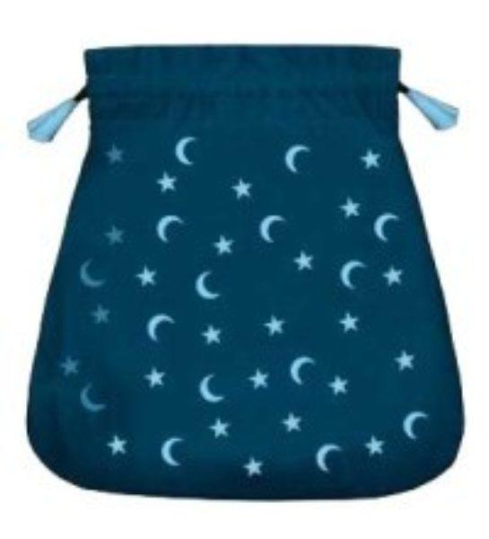 Pochette / bourse pour cartes Tarot - Lune et étoiles - Shop Spirituel