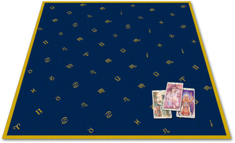 Tapis en velours / Tapis Cartomancie Astrologie - 80x80cm Shop Spirituel