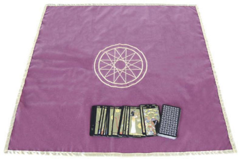 Tapis de Tarot / Tapis Cartomancie en velours - Mercure - 80 x 80 cm - shop spirituel