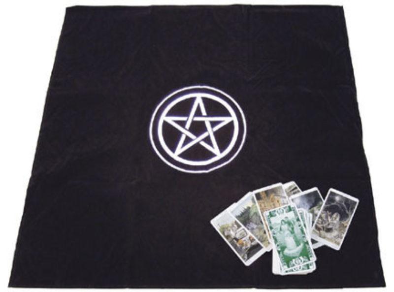 Tapis de Tarot - tapis cartomancie en velours Pentagramme Shop Spirituel