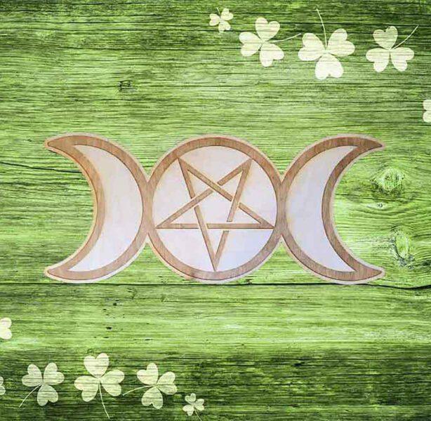 Grille de cristaux - Triple Lune Pentacle - Shop Spirituel