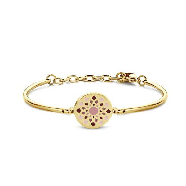 Bracelet avec fleur violet/rouge/rose - Shop Spirituel