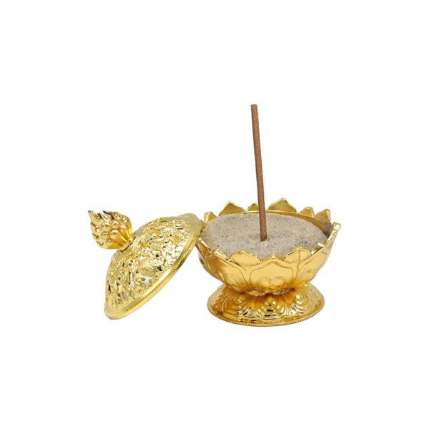 Brûle en or Lotus - pour bruler tous vos encens - Shop Spirituel
