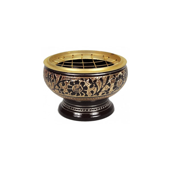 Brûle Encens - en laiton doré - Idéal pour faire brûler vos cônes, encens en grains - Shop Spirituel