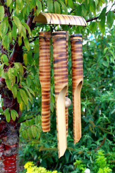 Carillon Bambou 4 tubes - Shop Spirituel