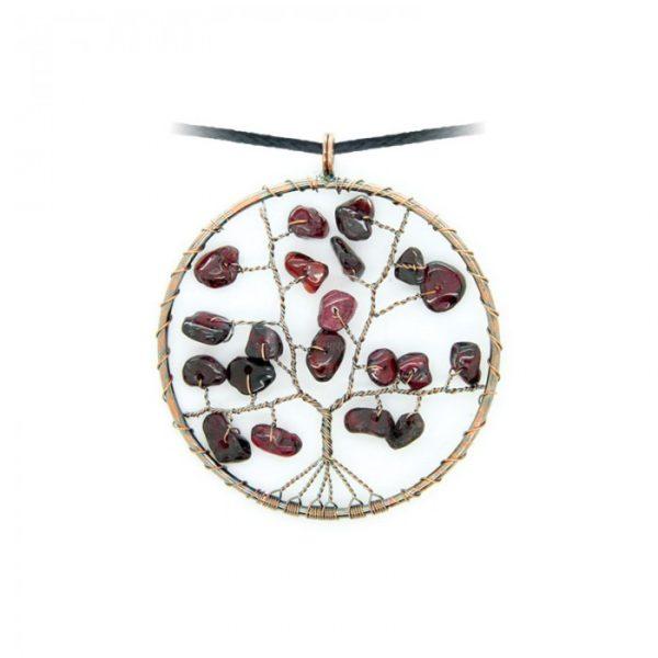 Collier arbre de vie - Almandin-Grenat - Shop Spirituel