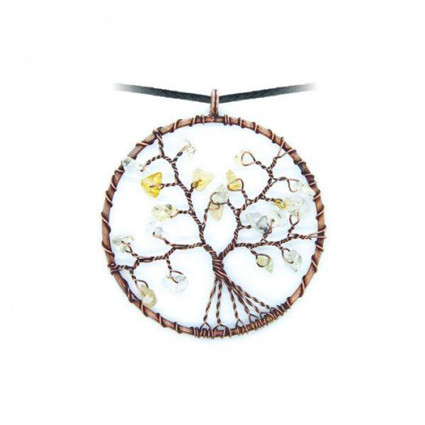 Collier arbre de vie - Citrine - Shop Spirituel