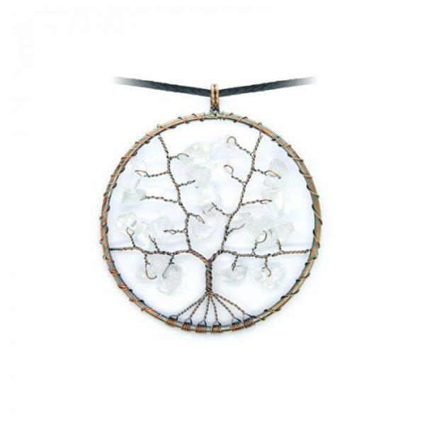 Collier arbre de vie Cristal de roche Shop Spirituel