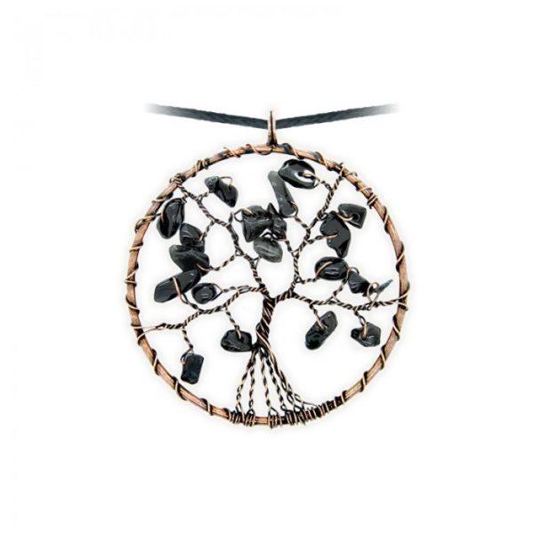 Collier arbre de vie - Onyx - Shop Spirituel