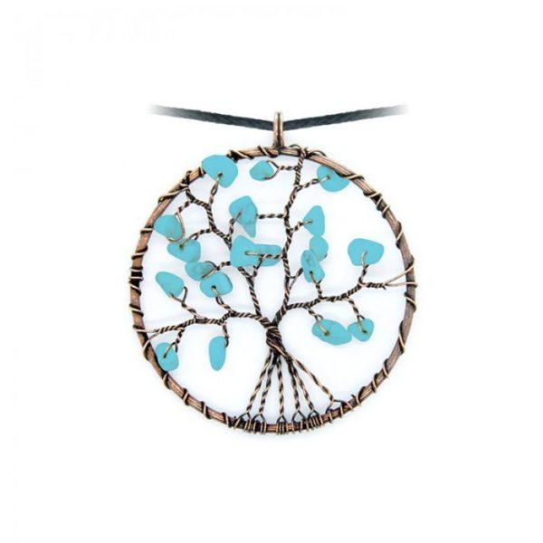 Collier arbre de vie Turquoise Shop Spirituel