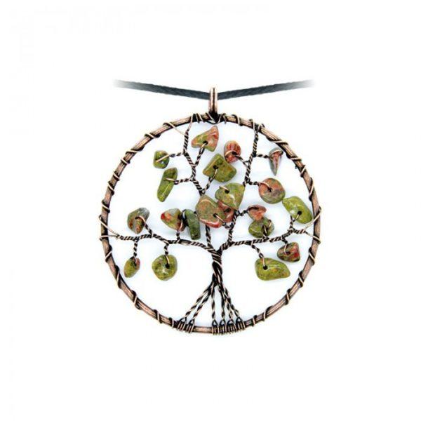 Collier arbre de vie Unakite Shop Spirituel