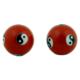 Boules de santé Qi Gong - Yin et Yang rouge